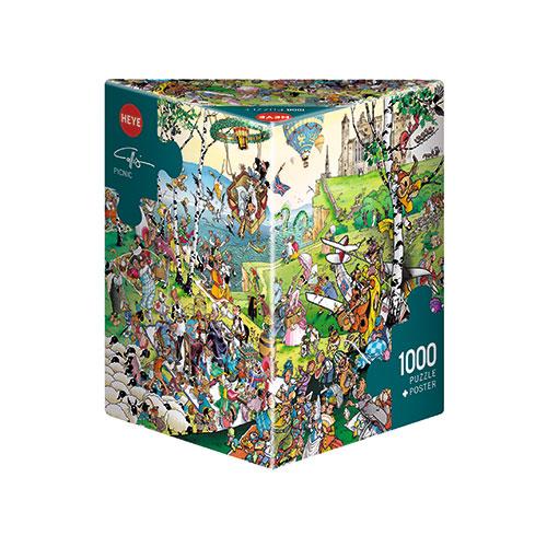 Puzzle Heye Picnic, Caja Triangular de 1000 Piezas