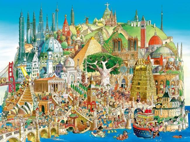 Puzzle Heye Ciudad Global de 1500 Piezas