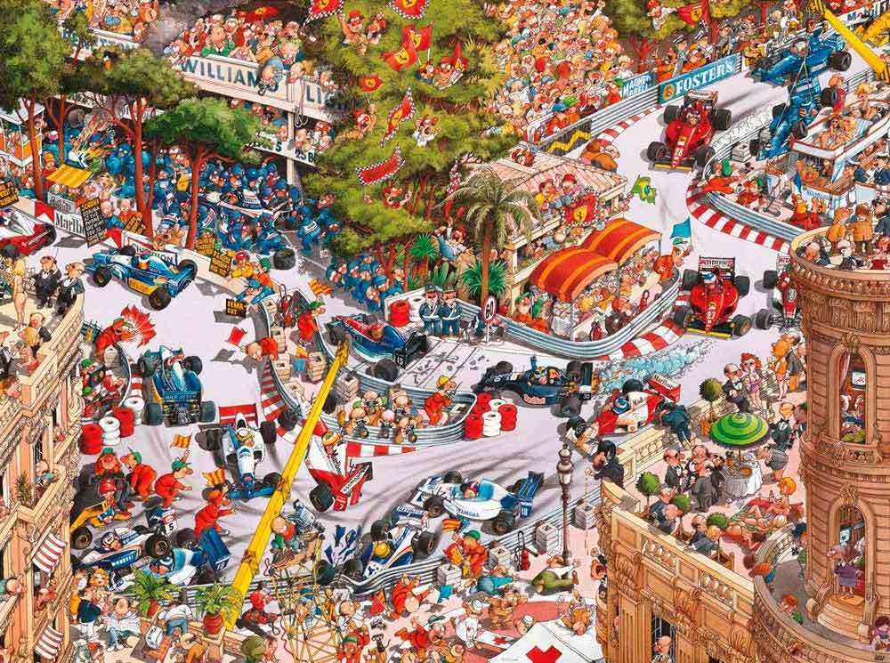 Puzzle Heye Clásicos de Mónaco, Caja Triangular de 1500 Piezas