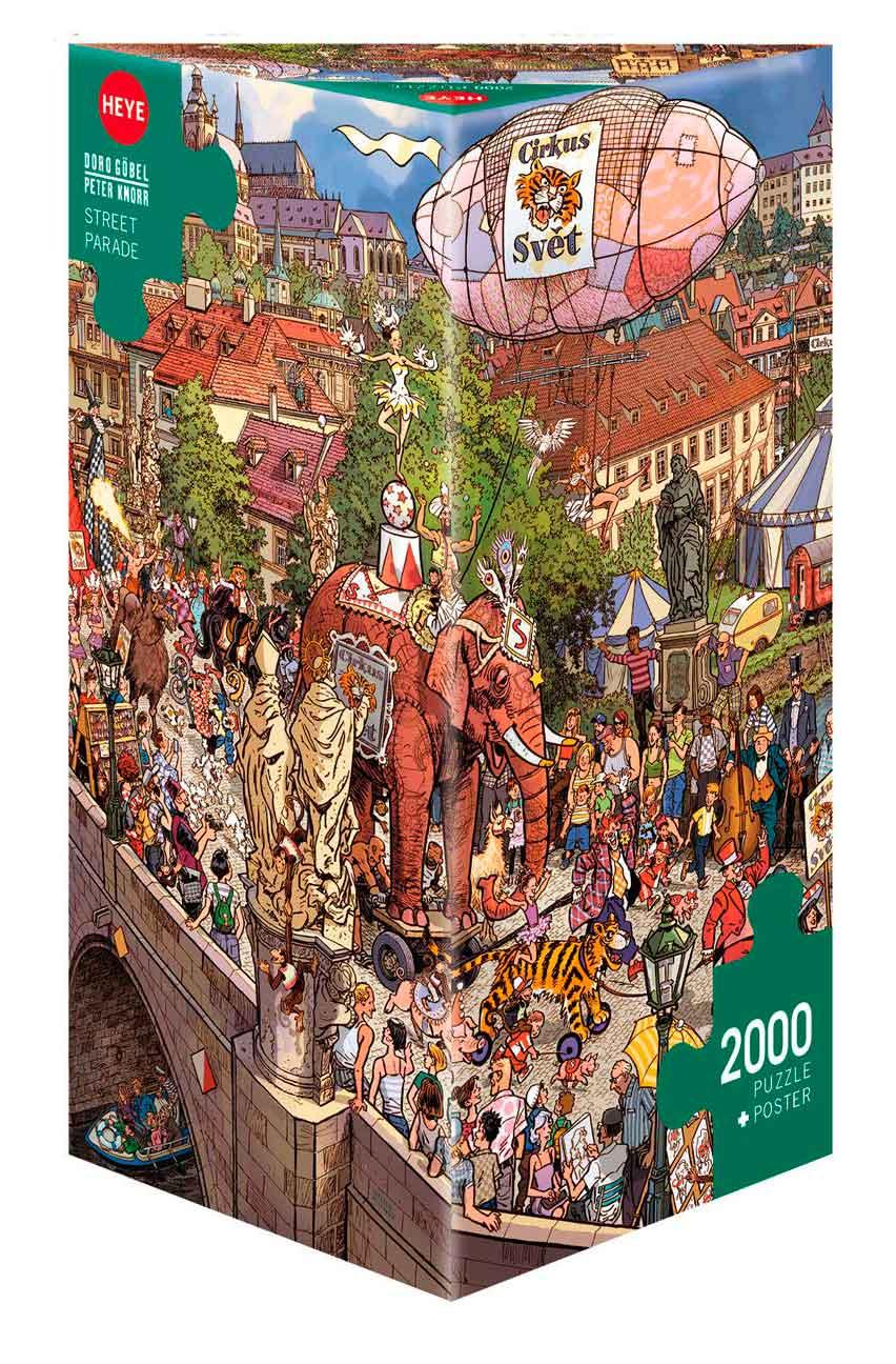 Puzzle Heye Desfile Callejero, Caja Triangular de 2000 Piezas
