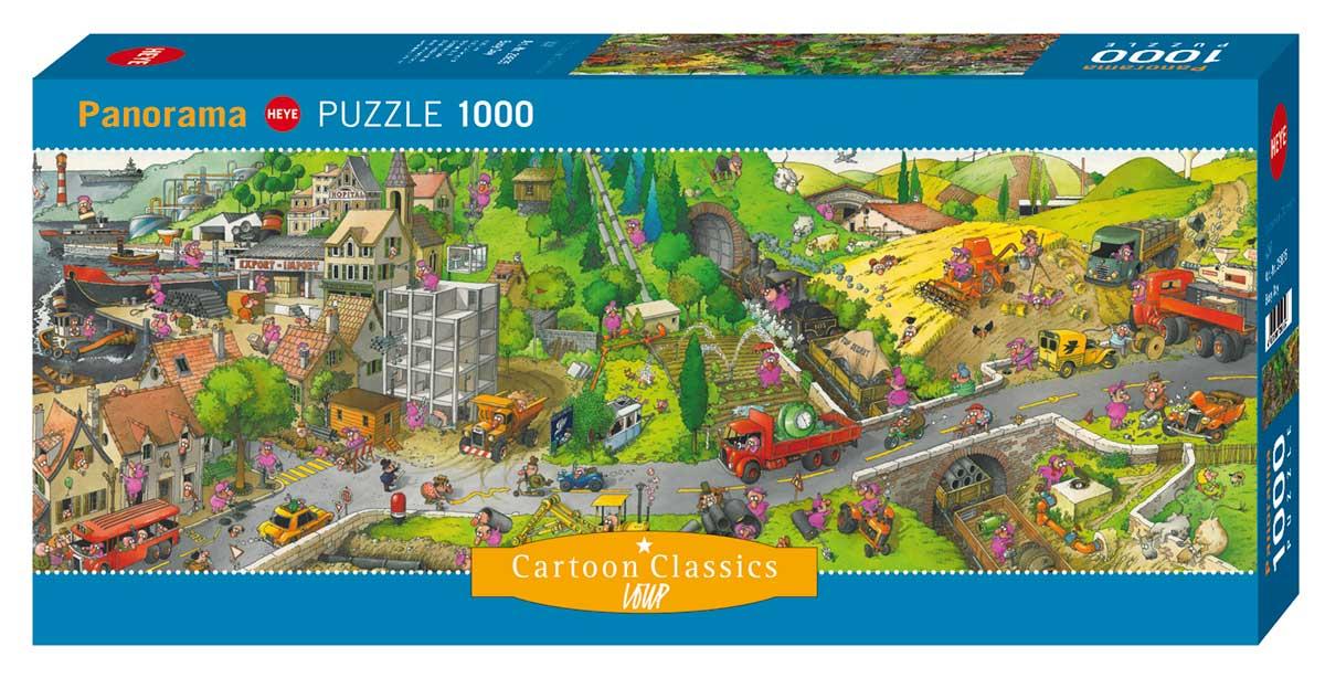 Puzzle Heye Dia Atareado de 1000 Piezas