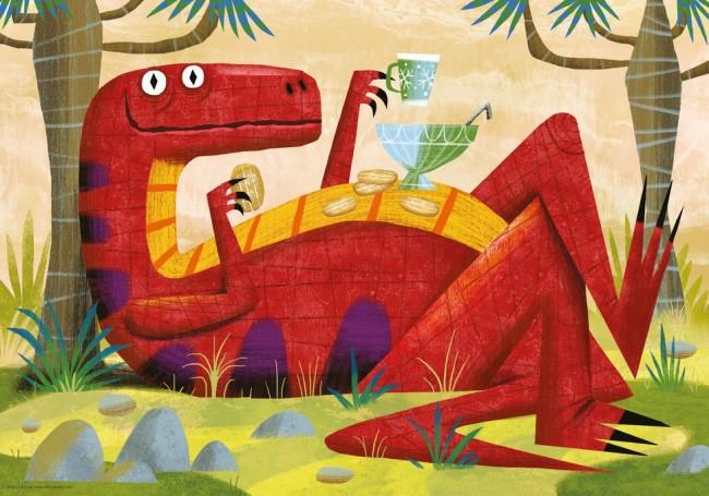 Puzzle Heye Dino Picnick de 500 Piezas