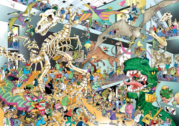 Puzzle Heye Dinosaurios, Dinos de 1000 Piezas