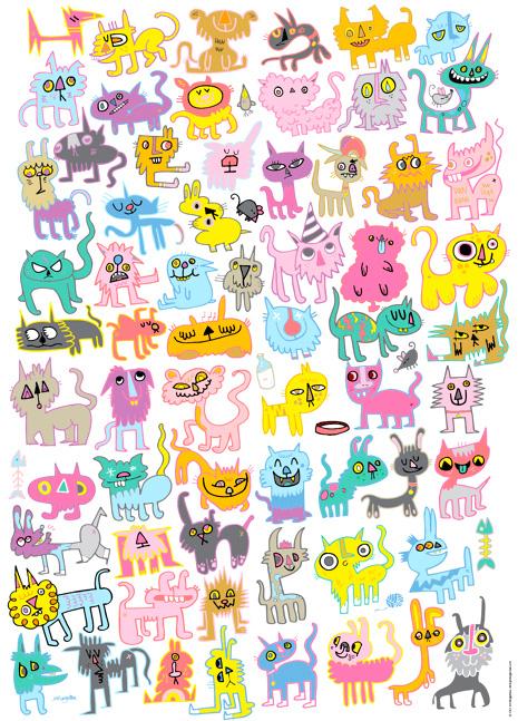 Puzzle Heye Doodlecats de 1000 Piezas