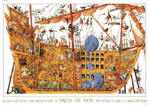 Puzzle Heye El Arca de Noé de 2000 Piezas