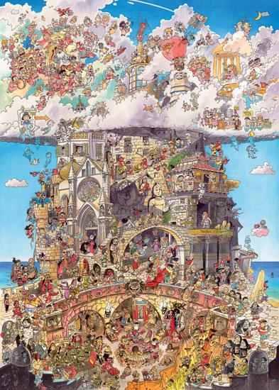 Puzzle Heye El Cielo y el Infierno de 1500 Piezas