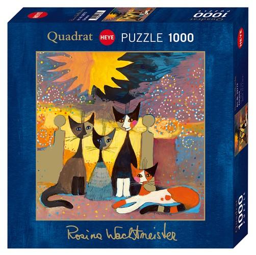 Puzzle Heye Encuentro de Gatos de 1000 Piezas
