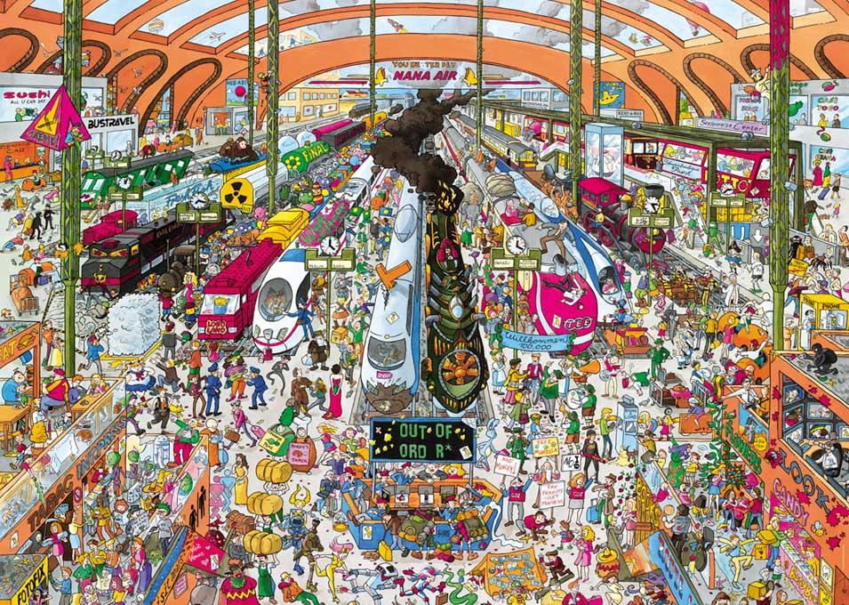 Puzzle Heye Estación de Trenes de 2000 Piezas