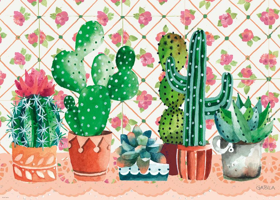Puzzle Heye Familia de Cactus de 1000 Piezas