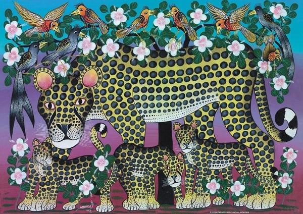 Puzzle Heye Familia de Felinos de 1000 Piezas