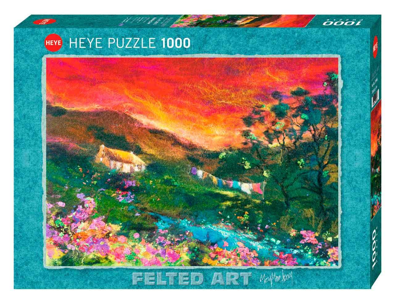 Puzzle Heye Felted Art, El Tendedero de 1000 Piezas