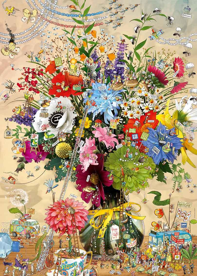Puzzle Heye Flores con Vida de 1000 Piezas
