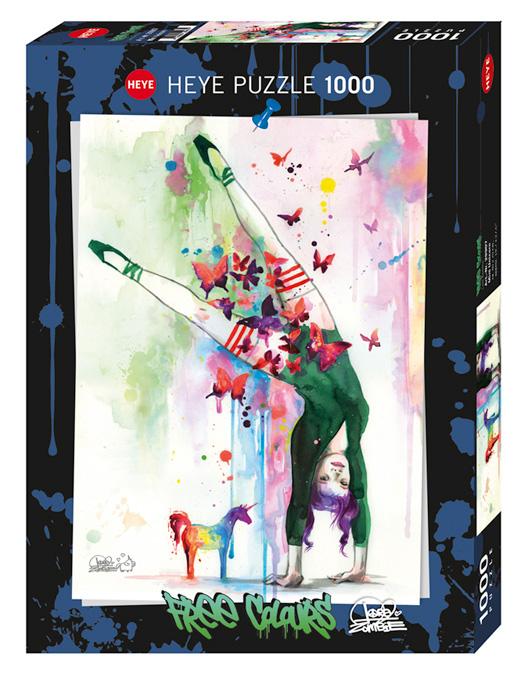 Puzzle Heye Free Colours, Mini Unicornio de 1000 Piezas