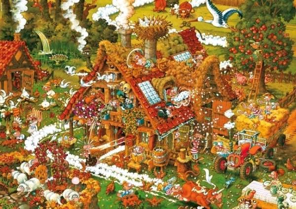 Puzzle Heye Funny Farm de 1500 Piezas