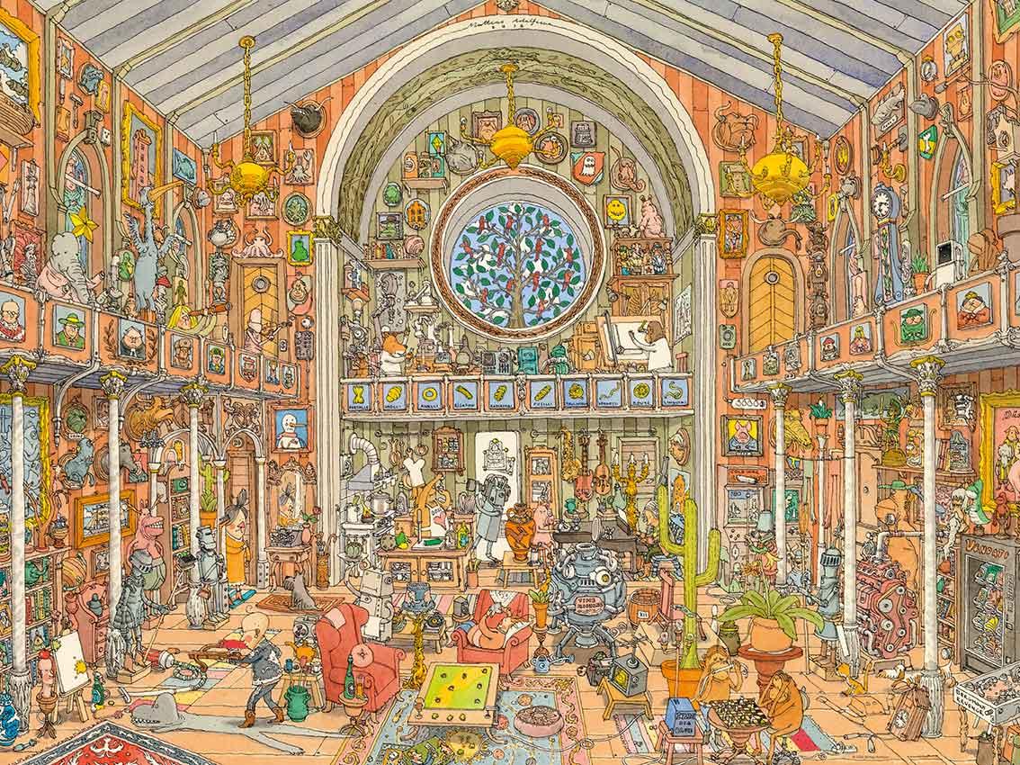 Puzzle Heye Gabinete de Curiosidades de 1500 Piezas