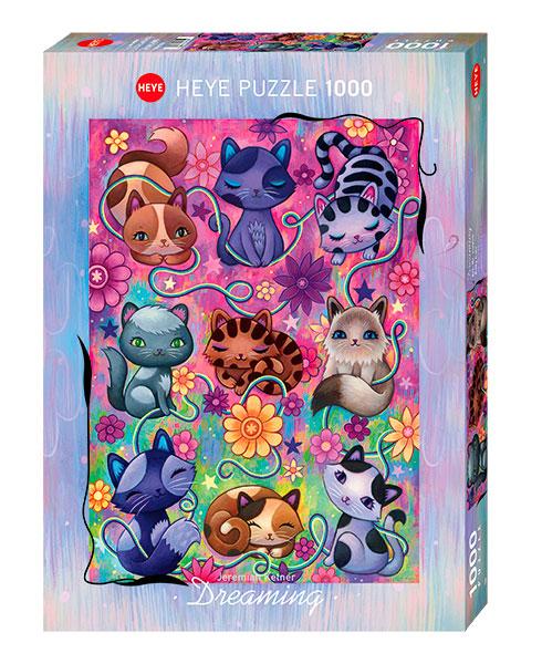 Puzzle Heye Gatitos Soñando de 1000 Piezas