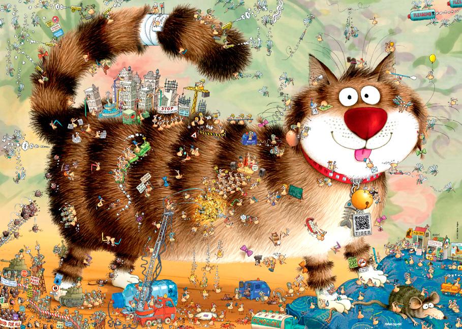 Puzzle Heye Gato con Vida de 1000 Piezas