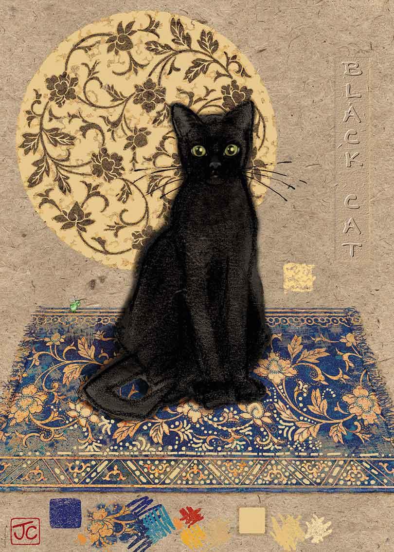 Puzzle Heye Gato Negro Sobre la Alfombra de 1000 Piezas