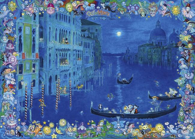 Puzzle Heye Gatos en Venecia de 1000 Piezas
