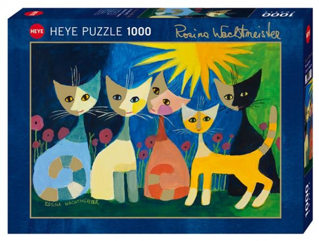 Puzzle Heye Gatos Llenos de Color de 1000 Piezas
