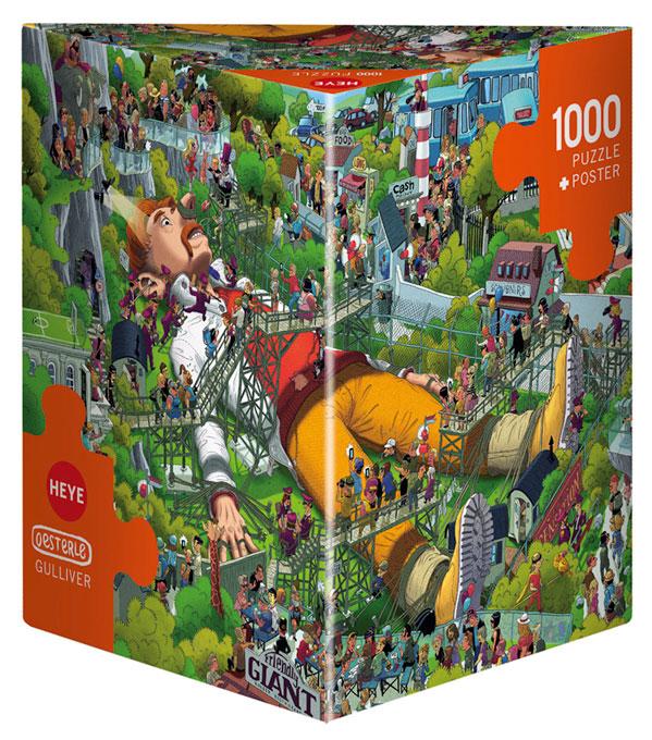 Puzzle Heye Gulliver, Caja Triangular de 1000 Piezas