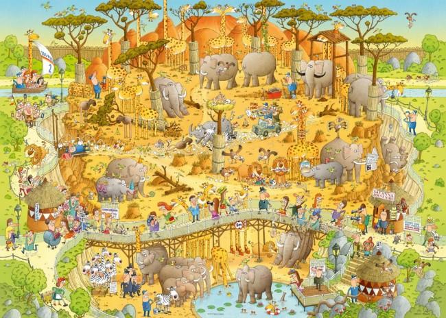 Puzzle Heye Hábitat Africano de 1000 Piezas