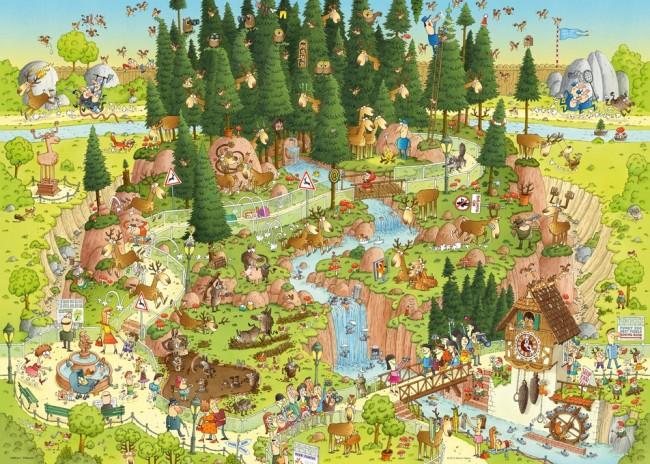 Puzzle Heye Hábitat de la Selva Negra de 1000 Piezas