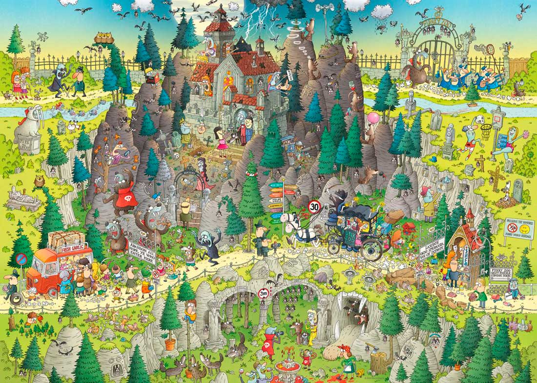 Puzzle Heye Hábitat de Transilvania de 1000 Piezas