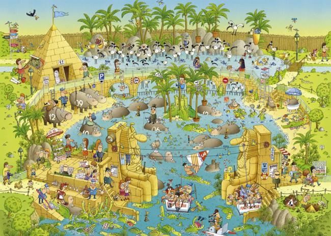 Puzzle Heye Hábitat del Nilo de 1000 Piezas