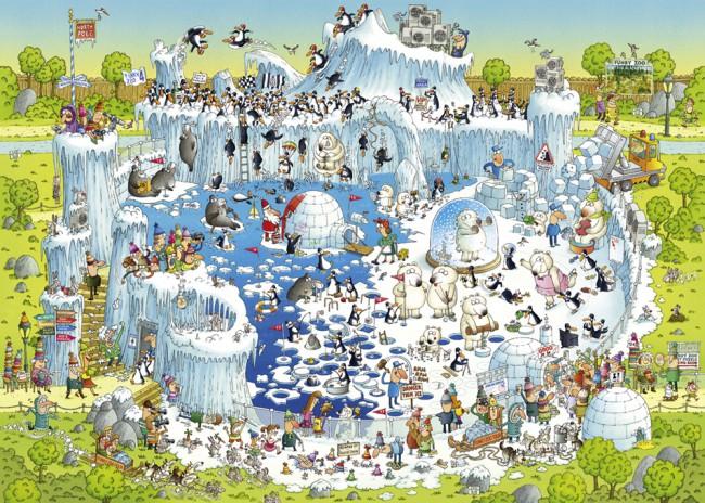 Puzzle Heye Hábitat del Polo de 1000 Piezas