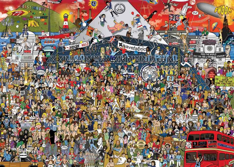 Puzzle Heye Historia de la Música Británica de 2000 Piezas