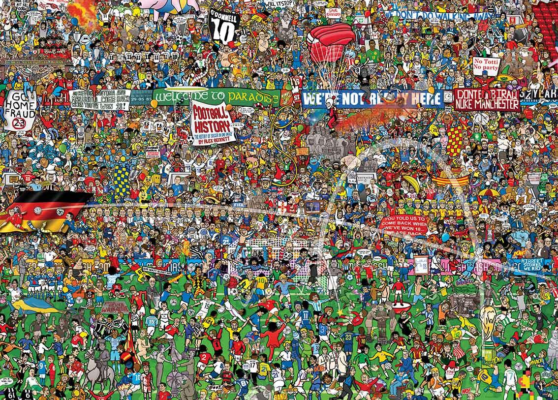 Puzzle Heye História del Fútbol de 3000 Piezas