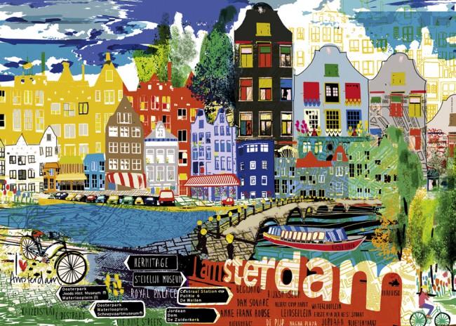Puzzle Heye I Love Amsterdam de 1000 Piezas
