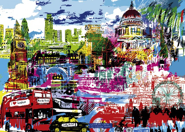 Puzzle Heye I Love London de 1000 Piezas