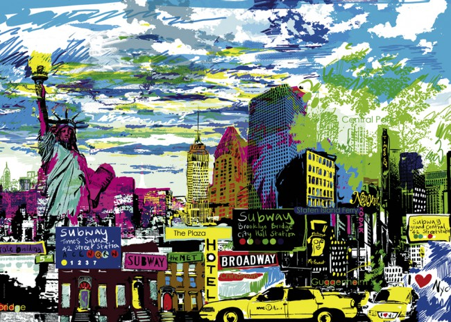 Puzzle Heye I Love New York de 1000 Piezas