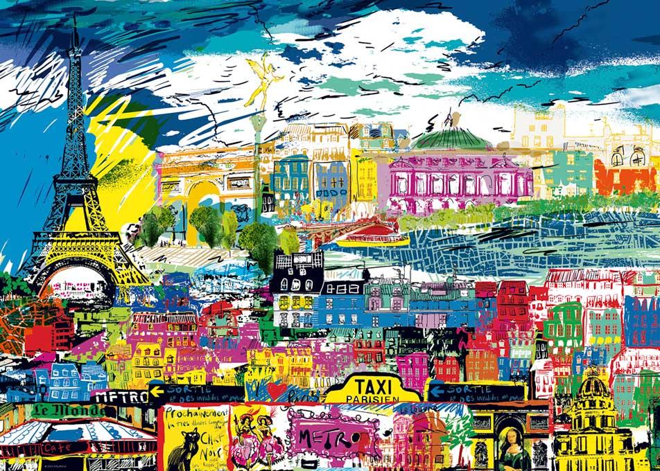 Puzzle Heye I Love Paris de 1000 Piezas