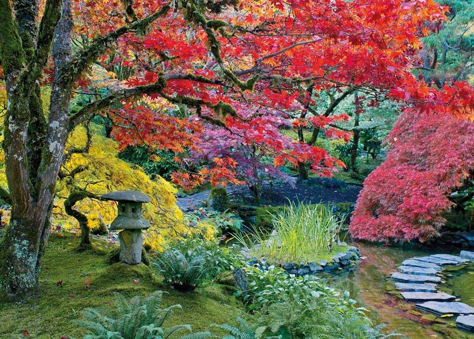 Puzzle Heye Jardín Japonés, Linterna de Piedra de 1000 Piezas