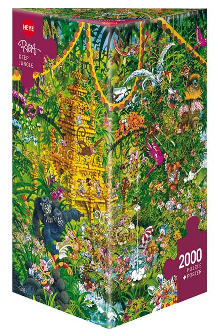 Puzzle Heye Jungla Profunda, Caja Triangular de 2000 Piezas