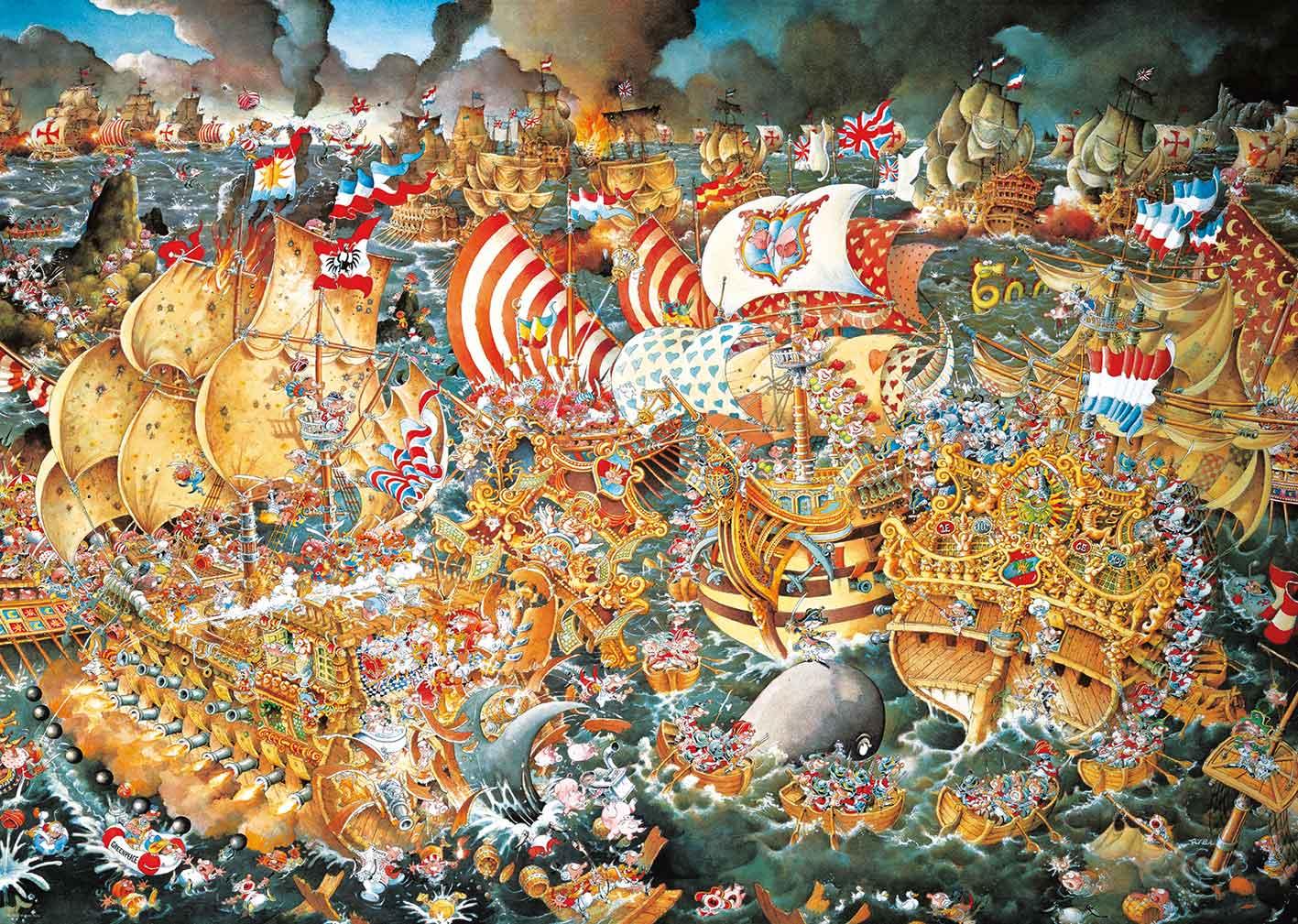 Puzzle Heye La Batalla de Trafalgar de 2000 Piezas