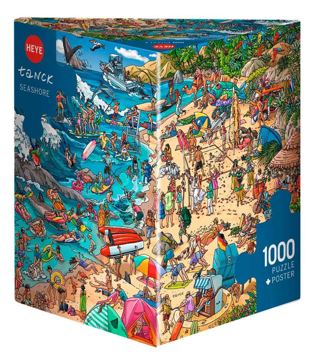 Puzzle Heye La Costa, Caja Triangular de 1000 Piezas