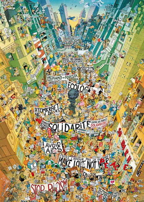 Puzzle Heye La Manifestación de 2000 Piezas
