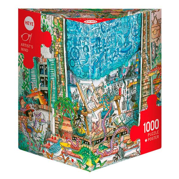 Puzzle Heye La Mente del Artista, Caja Triangular de 1000 Pzs
