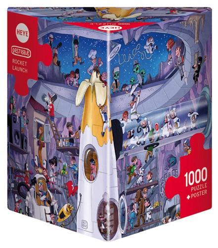 Puzzle Heye Lanzamiento Espacial de 1000 Piezas