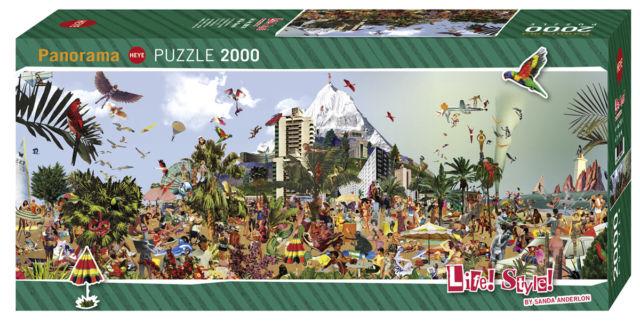 Puzzle Heye Life Style, En la Playa de 2000 Piezas