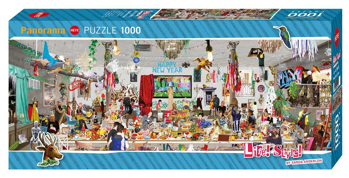 Puzzle Heye Life Style, Fiesta de Nochevieja de 1000 Piezas