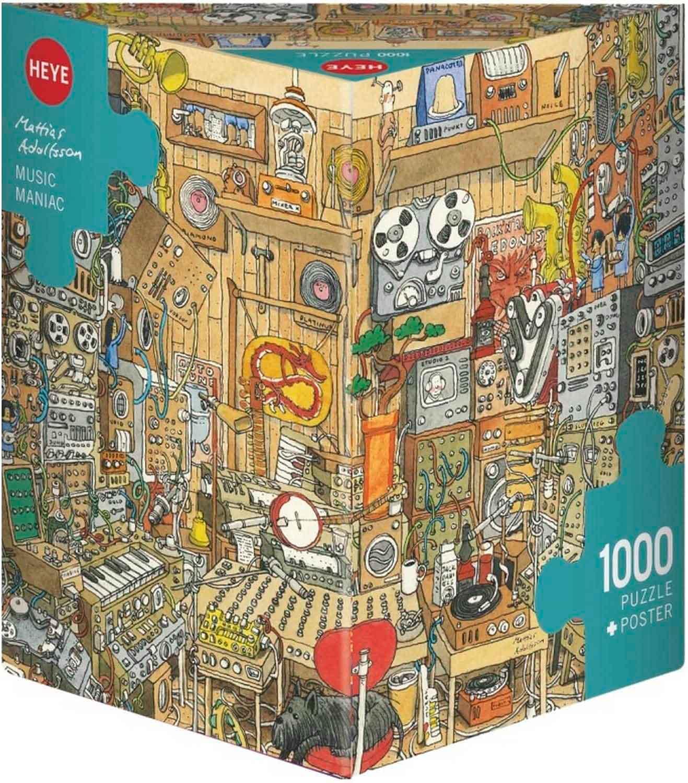 Puzzle Heye Maníaco de la Música, Caja Triangular de 1000 Pzs