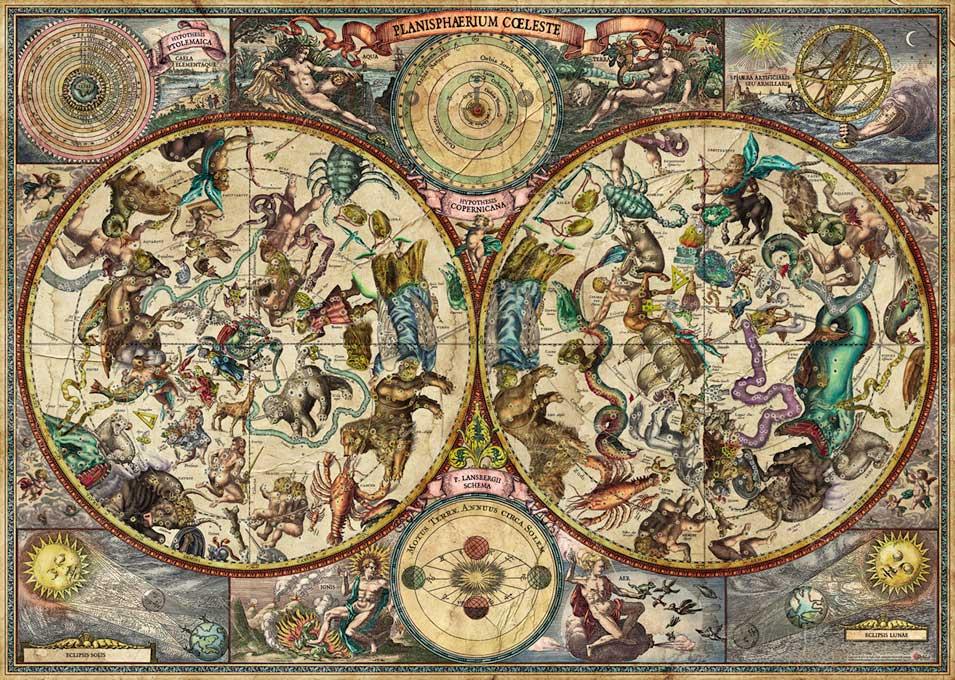 Puzzle Heye Mapa Celestial de 2000 Piezas