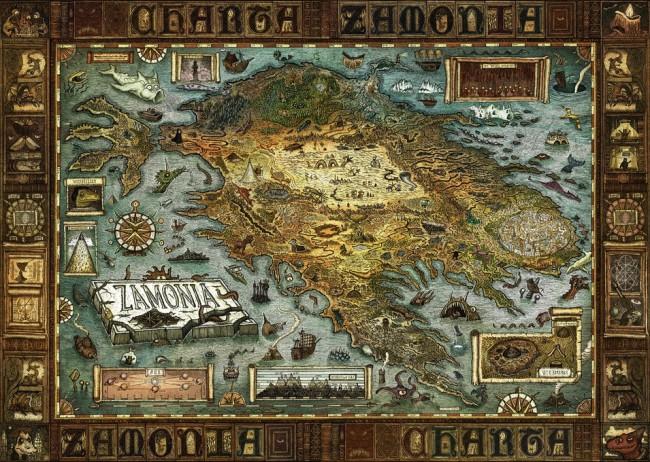 Puzzle Heye Mapa de Zamonia de 2000 Piezas