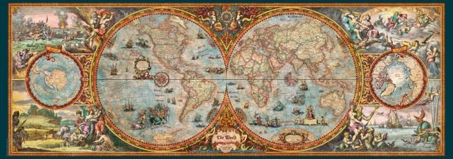 Puzzle Heye Mapa Hemisferio Panorama de 6000 Piezas