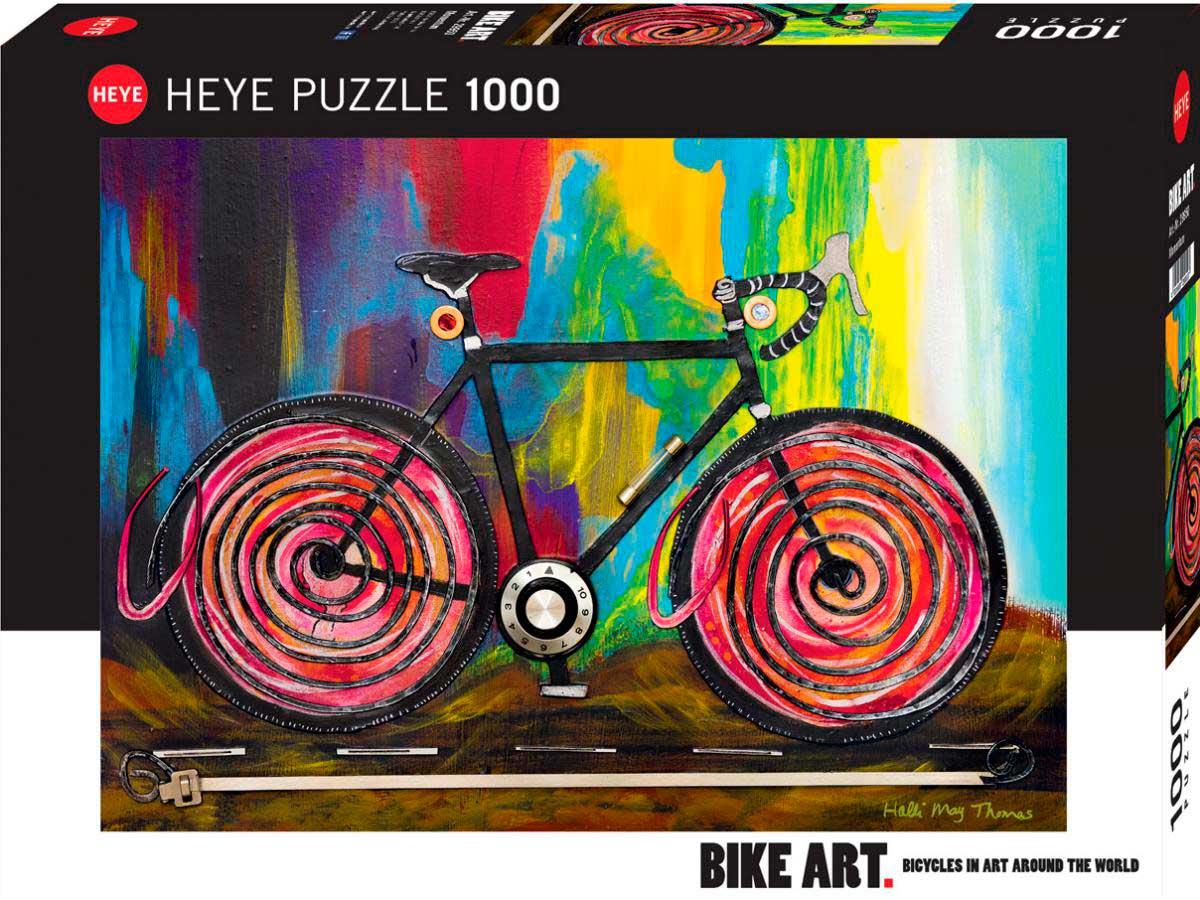 Puzzle Heye Momentum, Arte en Bicicleta de 1000 Piezas
